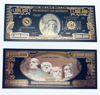 Prosperity $1,000,000 Black & Gold Banknote