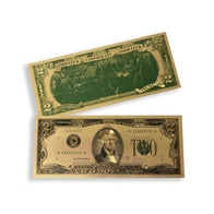 """Good Luck Certificate"" Gold Plated $2 Collectible Bill"