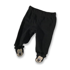 Mickey Mouse Black Footsie Pants