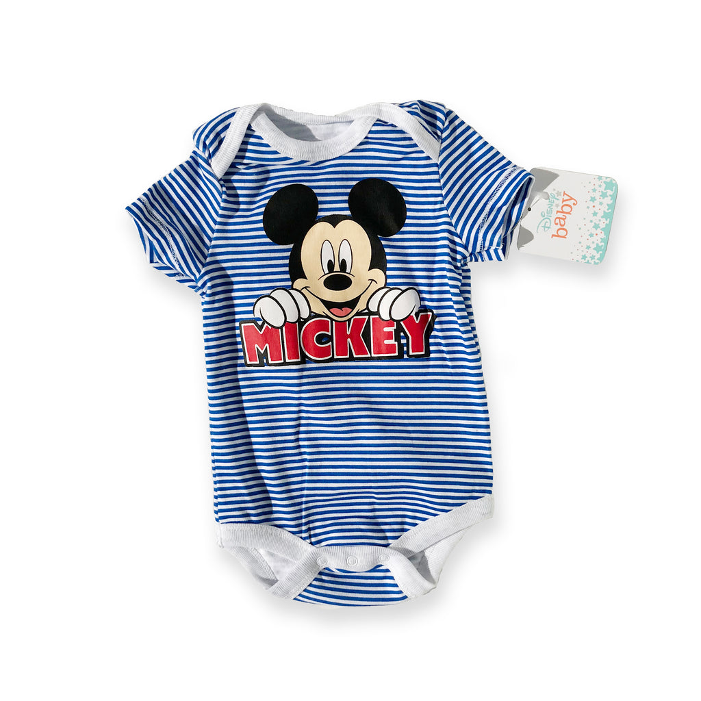 Mickey Mouse Blue Striped Onesie