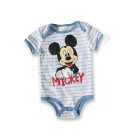 Mickey Mouse Baby Blue Striped Onesie