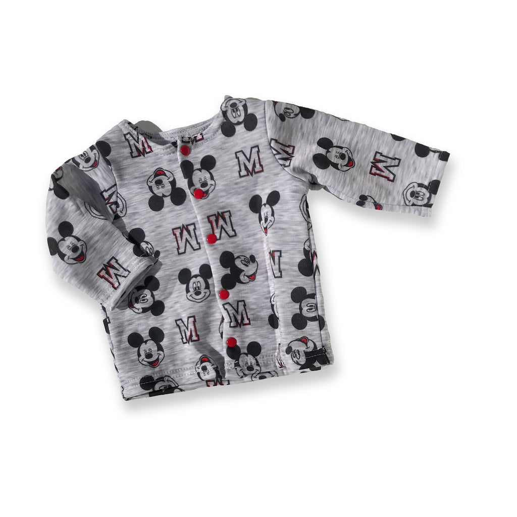 Mickey Mouse Grey Button-Down