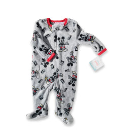 Mickey Mouse Grey Footsie Onesie