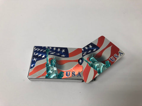 Statue Of Liberty Silver Plated Playing Cards