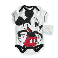 Mickey Mouse White Large Print Onesie