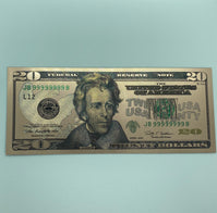 Rose Gold Novelty U.S. $20 Dollar Bill