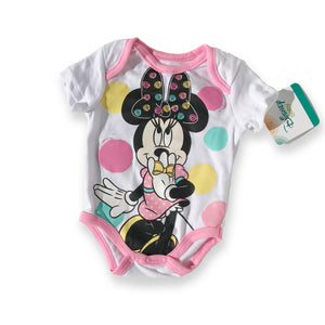 Minnie Mouse Polka-Dot Onesie