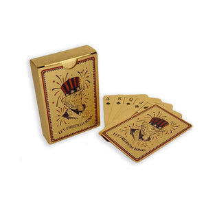 24k Gold foil Let Freedom Ring American Playing Cards