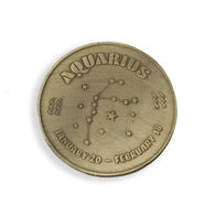 Aquarius Zodiac Sign Coin