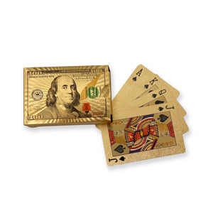 Benjamin Franklin 24K Gold Foil Poker Deck
