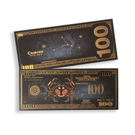Cancer $100 BLACK & GOLD Bill