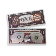 $1 God Bless America Eagle White Gold Bills
