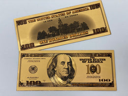 Gold Plated Novelty $100 Bill