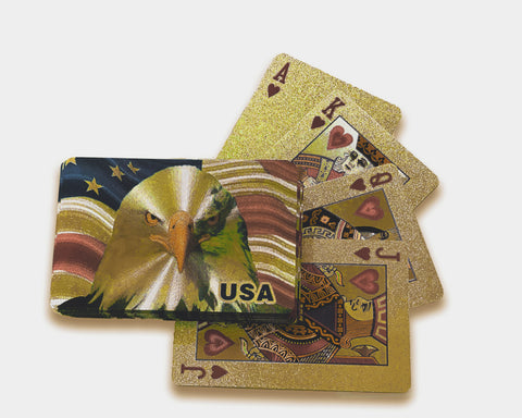 American Bald Eagle Gold Plated Playing Cards