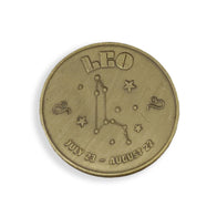 Leo Zodiac Sign Coin