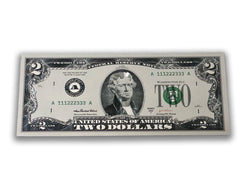 Lucky Silver Plated $2 Novelty Bill