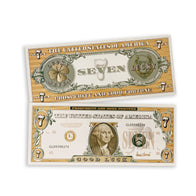 $7 LUCKY White Gold Bank Note