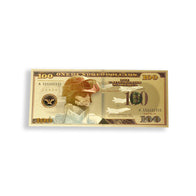 $100 Support Our Troops Gold Banknote
