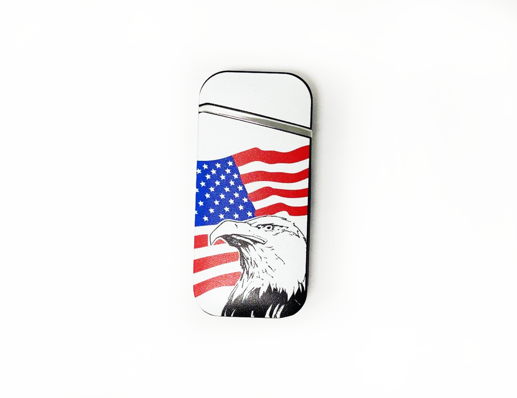 American Flag Windproof Electric Rechargeable Lighter