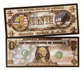 $1 George Washington American Flag Black Bank Note
