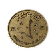 Pisces Zodiac Sign Coin