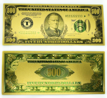 Gold Plated $500 Novelty Bill
