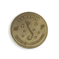 Scorpio Zodiac Sign Coin