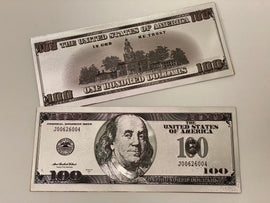 Silver Plated Novelty $100 Bill