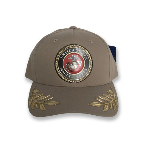 Official U.S. Marine Corps Tan Wreath Hat