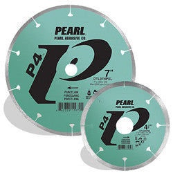 DIAMOND SAW BLADES TILE & STONE  P4™ FOR PORCELAIN  PEARL ABRASIVES