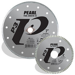 DIAMOND SAW BLADES TILE & STONE P3™ & P5™ ELECTROPLATED BLADE FOR MARBLE  PEARL ABRASIVES