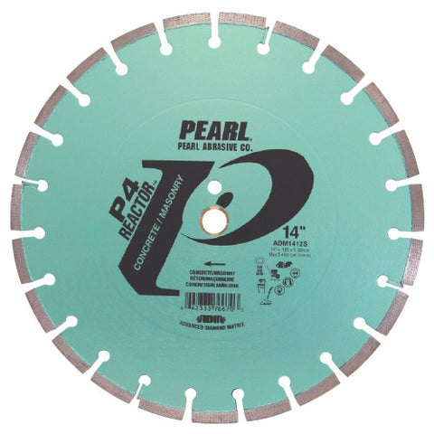 DIAMOND SAW BLADES SEGMENTED  P4™ REACTOR™ ADM™ FOR CONCRETE  PEARL ABRASIVES