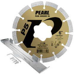 DIAMOND SAW BLADES SEGMENTED  P5™ GREEN CONCRETE/EARLY ENTRY BLADE KIT  PEARL ABRASIVES