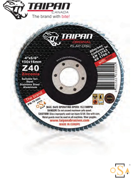 FLAP-DISCS-'ORIGINAL'-CONICAL-ZIRCONIA-TAIPAN
