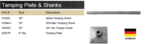 TAMPING PLATE & SHANKS
