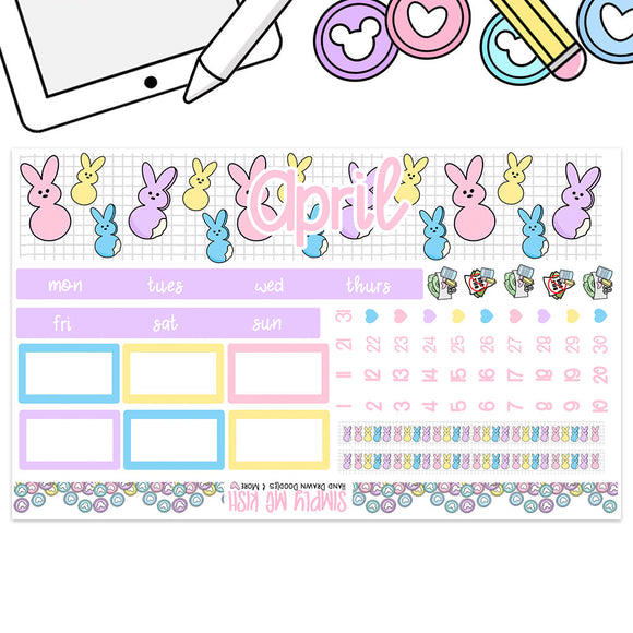 April Peeps Print Pression B6 Monthly Kit (2nd Generation)