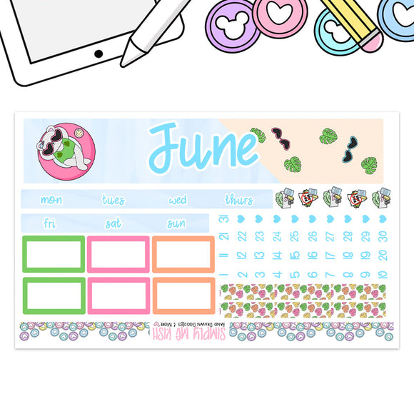 June Summer Time  Print Pression B6 Monthly Kit (2nd Generation)