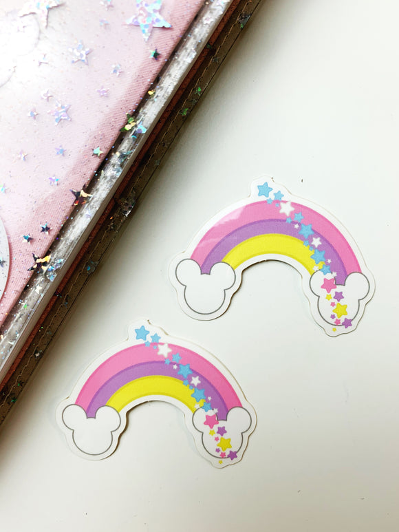 Magical Rainbow Glossy Vinyl Sticker Die Cut