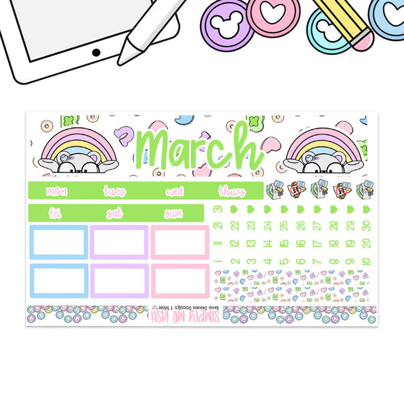 March Print Pression B6 Monthly Kit (2nd Generation)