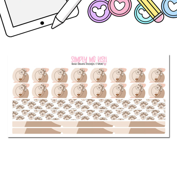 Shades of Brown  Washi Stickers