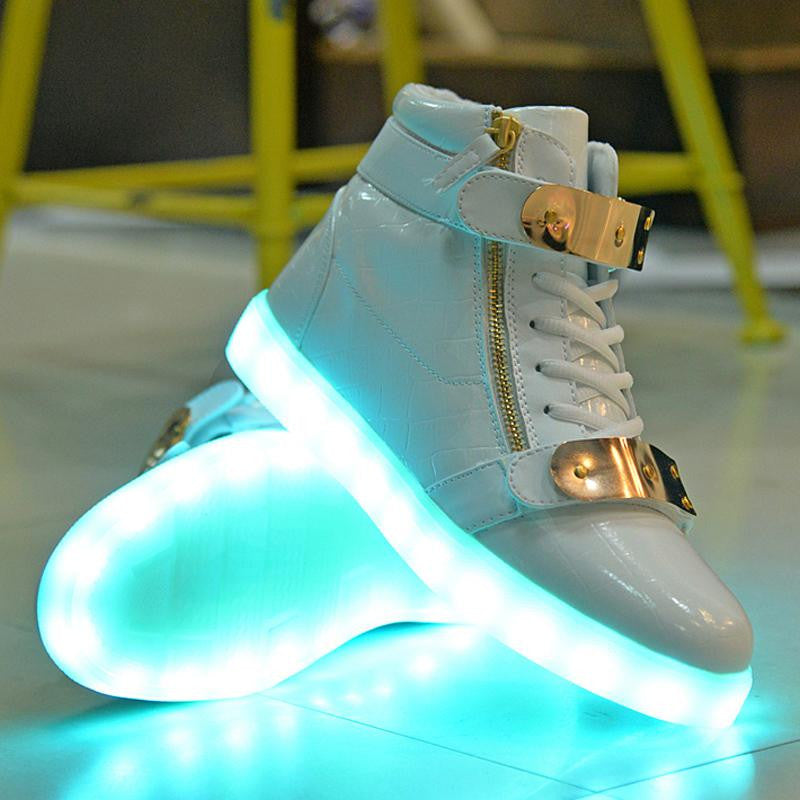 frenzy shoes white supreme high top glow frenzy. Black Bedroom Furniture Sets. Home Design Ideas