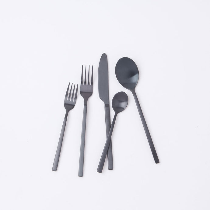 Apsel Abalone Black Flatware Set