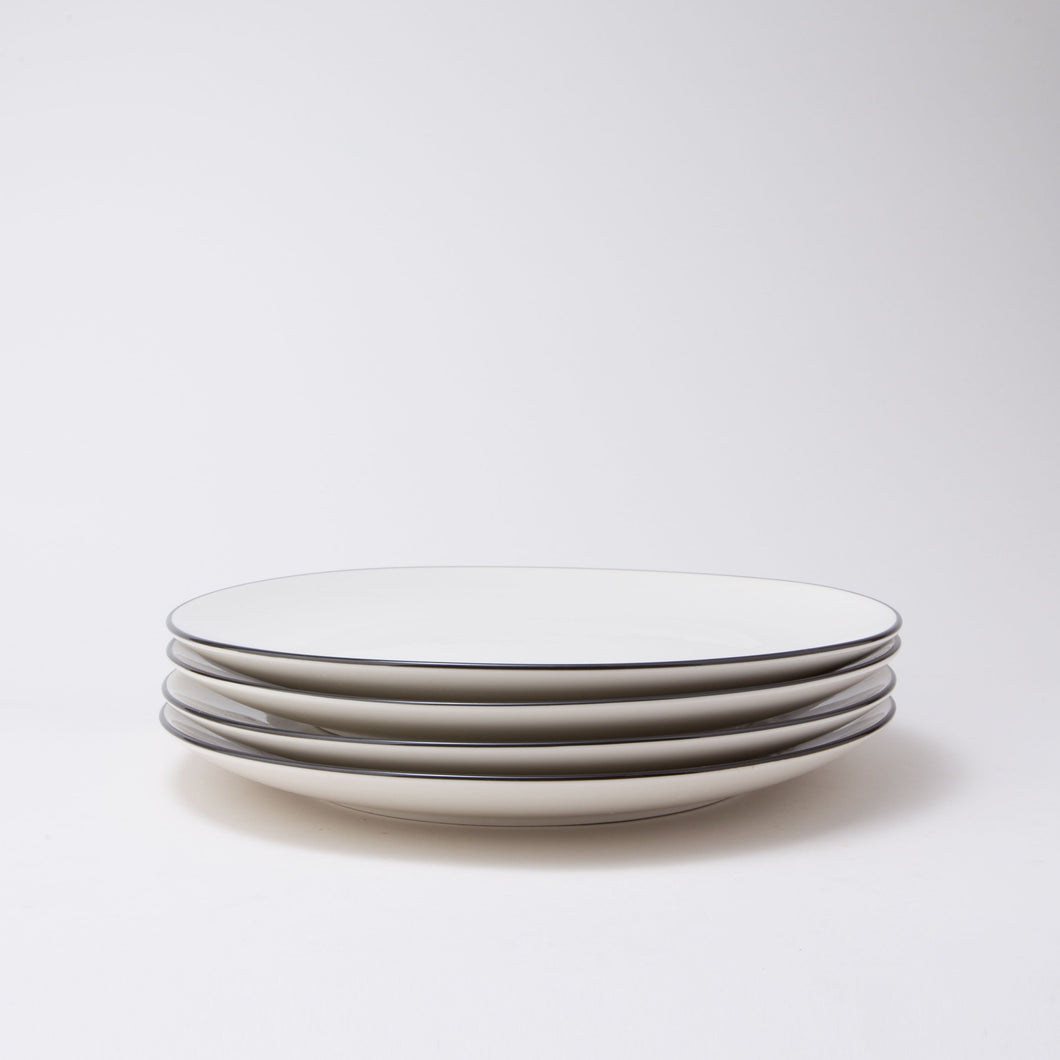 Damek Charcoal Line Large Plates