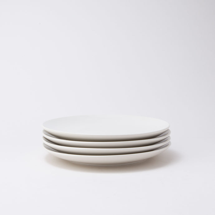 Damek White Medium Plates