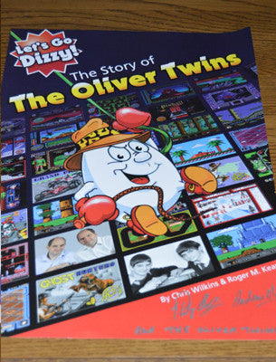 The Story of the Oliver Twins signed A3 poster - Fusion Retro Books