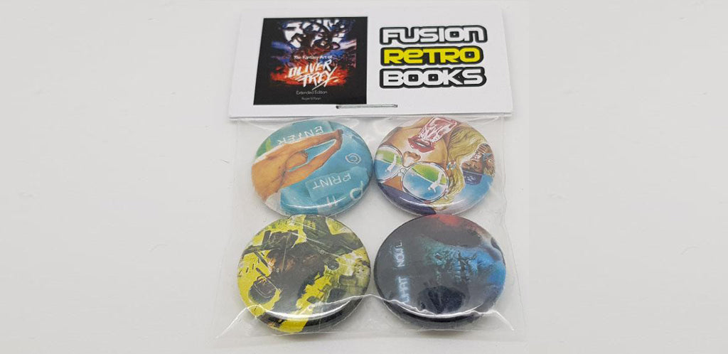 Pack of 4 Crash/Zzap badges - Fusion Retro Books
