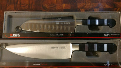 F.Dick 1905 2 Piece set- 7 inch Santoku and 8.5inch Chef Knife