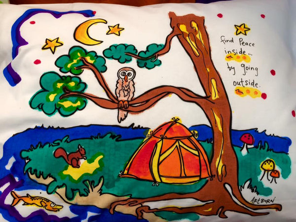 Pillow Case Painting Kits for Kids - Peaceful Camping