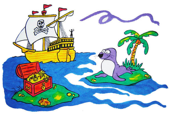 Pillow Case Painting Kits for Kids - Treasure Chest / Pirate
