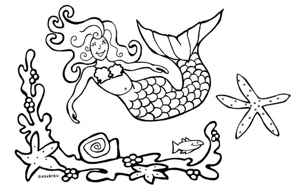 Pillow Case Painting Kits for Kids - Mermaid